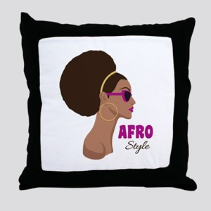 afro Style Throw Pillow