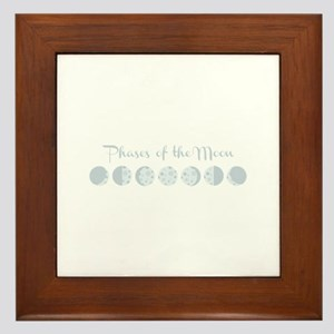 Phases of the Moon Framed Tile