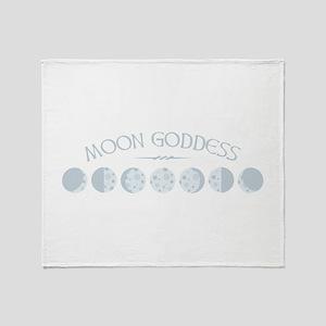 Moon Goddess Throw Blanket