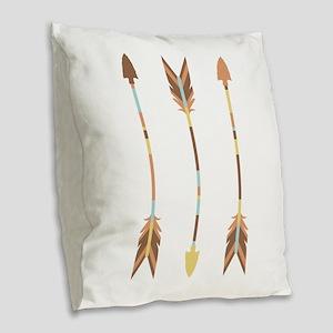 Indian Arrows Burlap Throw Pillow