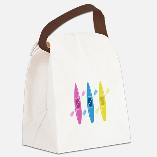 Kayaks Canvas Lunch Bag