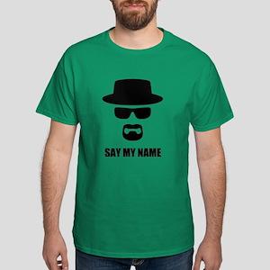 Custom Text Heisenberg Logo Dark T-Shirt