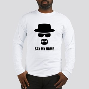 Custom Text Heisenberg Logo Long Sleeve T-Shirt