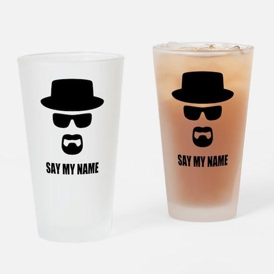 Custom Text Heisenberg Logo Drinking Glass