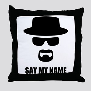 Custom Text Heisenberg Logo Throw Pillow