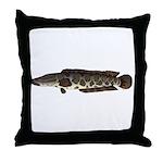 Northern Snakehead fish Throw Pillow