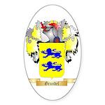 Grundel Sticker (Oval 50 pk)