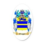 Grugger Oval Car Magnet