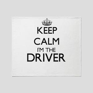 Keep calm I'm the Driver Throw Blanket