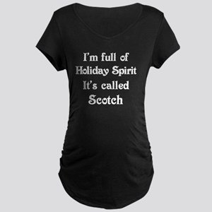 Funny Holiday Spirit Maternity Dark T-Shirt