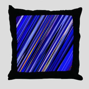Dark Blue Stripes Throw Pillow