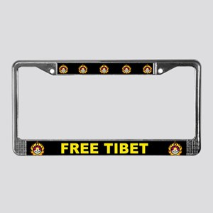 Flame Free Tibet License Plate Frame