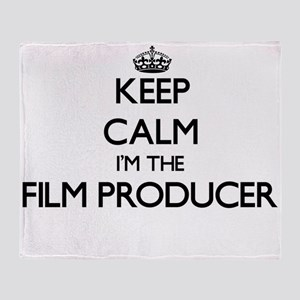Keep calm I'm the Film Producer Throw Blanket