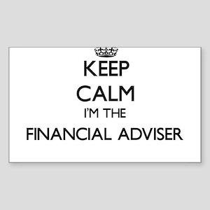 Keep calm I'm the Financial Adviser Sticker