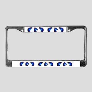 Blue Mustang License Plate Frame