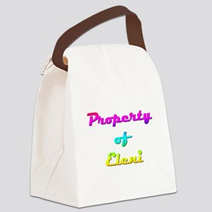 Property Of Eleni Female Canvas Lunch Bag