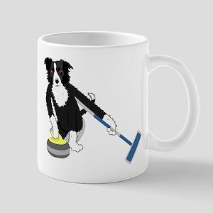Border Collie Curling Mug