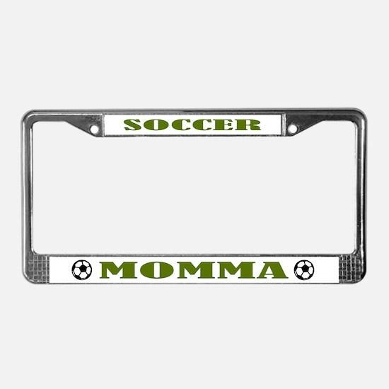 Soccer Momma Sports Gift License Plate Frame