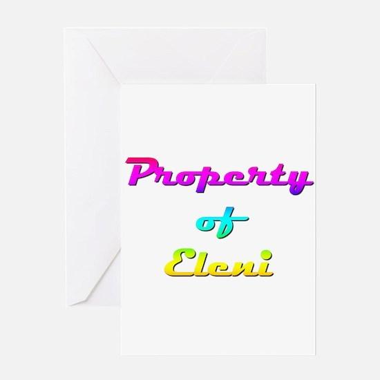 Property Of Eleni Female Greeting Card