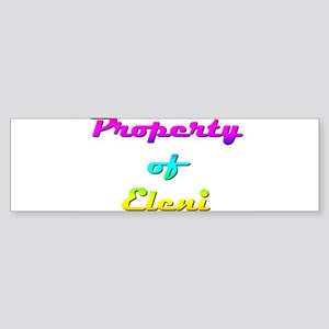 Property Of Eleni Female Sticker (Bumper)