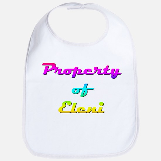 Property Of Eleni Female Cotton Baby Bib