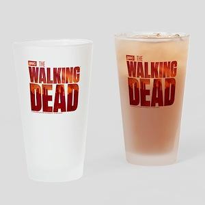 The Walking Dead Blood Logo Drinking Glass