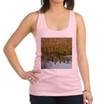 Coot on Pond Racerback Tank Top
