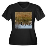 Coot on Pond Plus Size T-Shirt