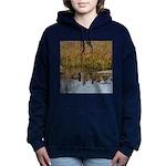 Coot on Pond Women's Hooded Sweatshirt