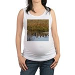 Coot on Pond Maternity Tank Top