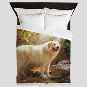 Great Pyrenees Alazon b Queen Duvet
