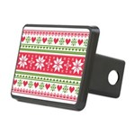Merry Christmas pattern 3 Rectangular Hitch Cover