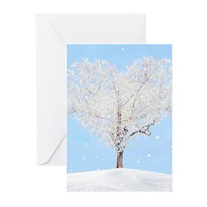 Snowflake greeting cards cafepress m4hsunfo