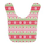 Merry Christmas pattern 3 Bib