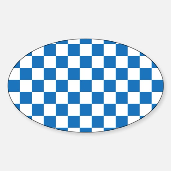 BLUE AND WHITE Checkered Pattern Decal