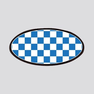 BLUE AND WHITE Checkered Pattern Patches