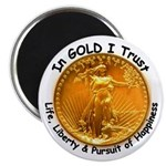 Gold Liberty with Motto on Magnet