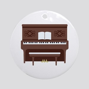 Upright Piano Ornament (Round)