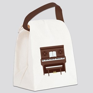 Upright Piano Canvas Lunch Bag