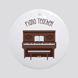 Piano Teacher Ornament (Round)