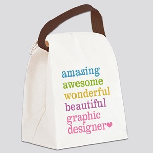 Graphic Designer Canvas Lunch Bag