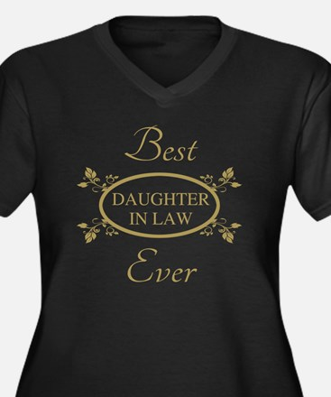 Best Daughte Women's Plus Size V-Neck Dark T-Shirt