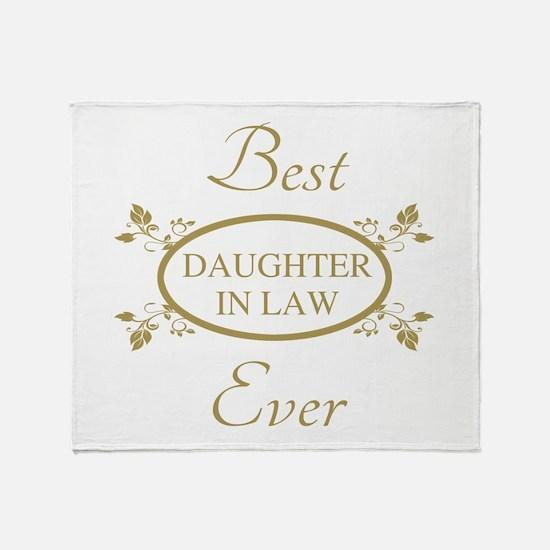 Best Daughter-In-Law Ever Throw Blanket