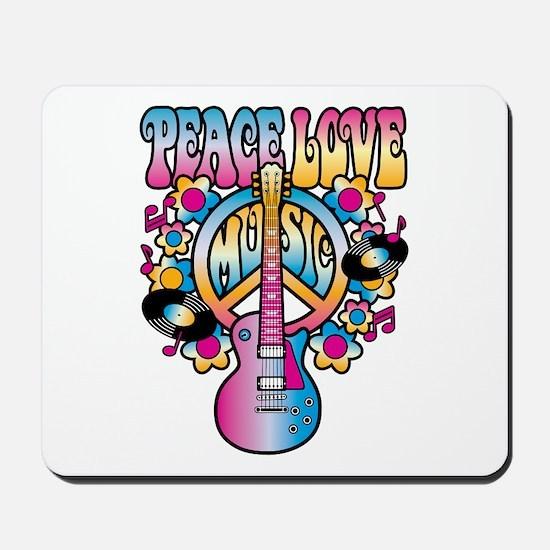 Peace Love & Music Mousepad