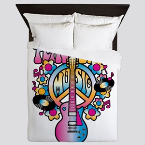 Peace Love & Music Queen Duvet