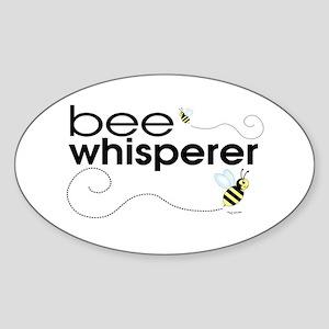 Bee Whisperer Oval Sticker