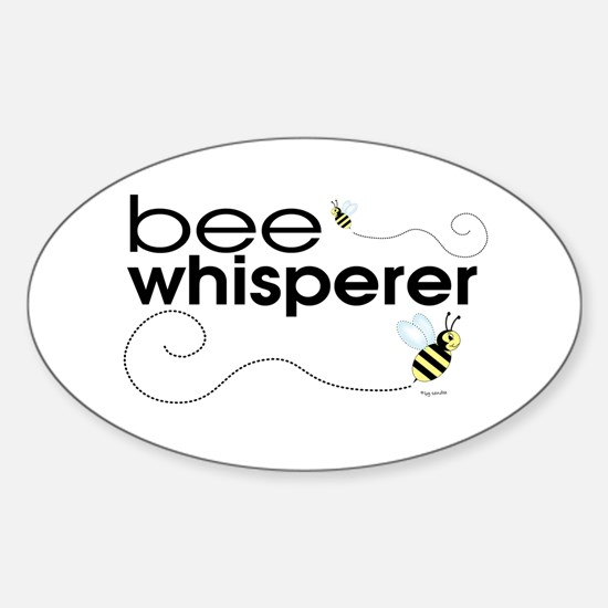 Bee Whisperer Oval Decal