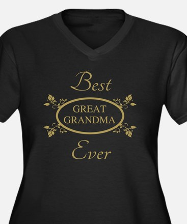 Best Great G Women's Plus Size V-Neck Dark T-Shirt