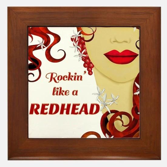 Rockin' like a REDHEAD Framed Tile