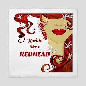 Rockin' Like A Redhead Queen Duvet